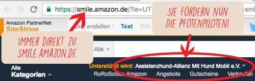 Grafik Amazon smile Anleitung