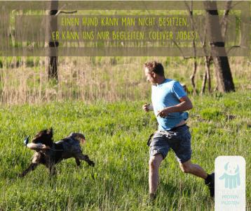 Hund und Mensch gemeinsam aktiv
