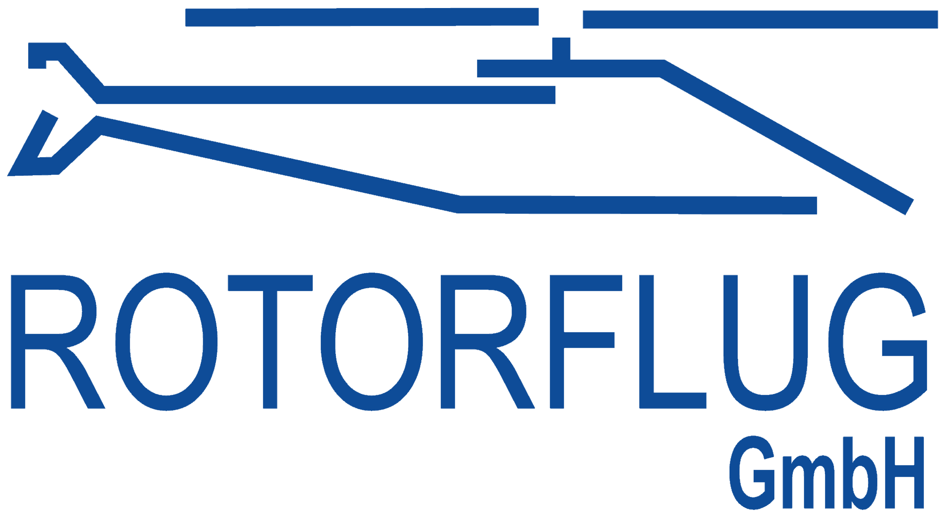 Logo Rotorflug Airservices :: Logo of Rotorflug GmbH. Line outline of a helicopter and the word Rotorflug.