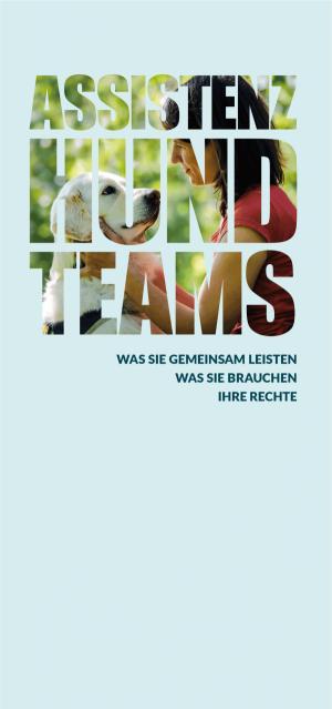 Titelblatt der Assistenzhundbroschüre