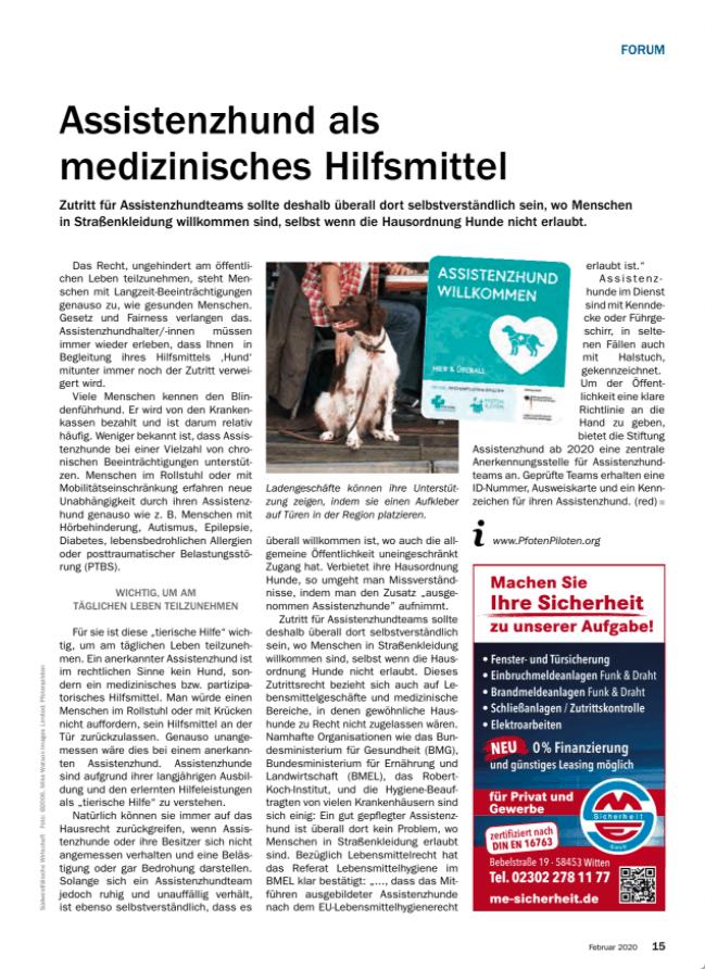Ganzseitiger Beitrag der IHK Hagen :: Mit ausführlicher Erklärung under dem Titel
