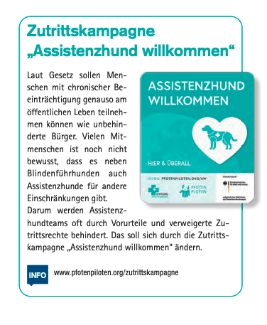 Contribution of the IHK Karlsruhe 2/2020 :: The quarter-page article shows the sticker and key info under the title of access campaign