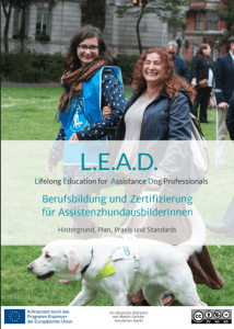 Titelblatt der deutschen Version unserer L.E.A.D.-Broschüre von der Projekt-Evaluierungsphase