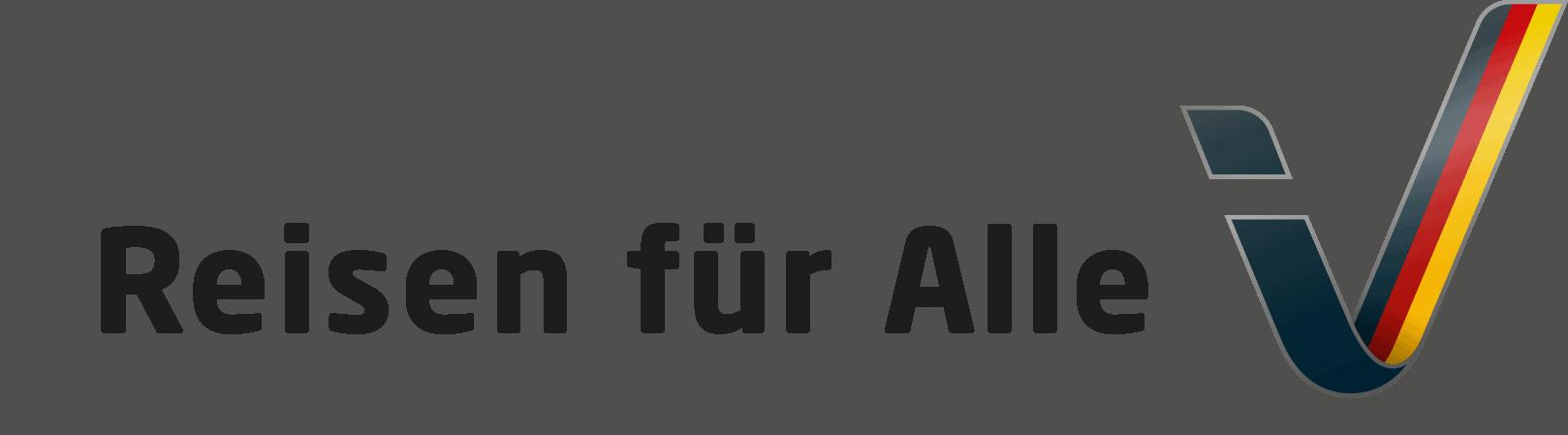 Logo der Initiative Reisen für Alle :: Der Schriftzug Reisen für Alle und das Logo.