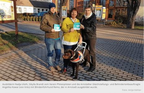 """Zutrittskampagne """"Assistenzhund Willkommen"""" in Arnstadt"""