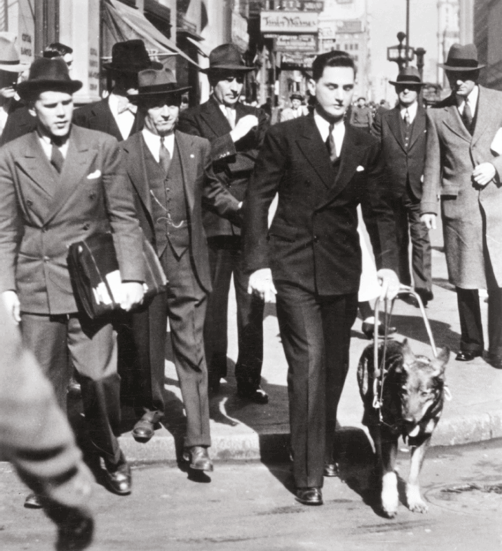 Morris Frank and guide dog