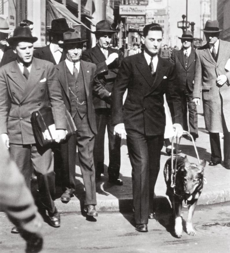 Morris Frank und Blindenführhund